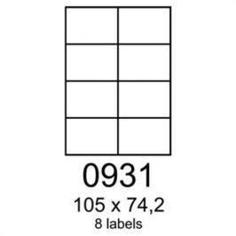 Etikety RAYFILM 105x74,2 biele s odnímateľným lepidlom R01020931F (1.000 list./A4) R0102.0931F