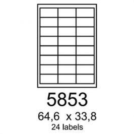 Etikety RAYFILM 64,6x33,8 biele s odnímateľným lepidlom R01025853F R0102.5853F