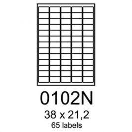 Etikety RAYFILM 38x21,2 vysokolesklé biele laser R01190102NF R0119.0102NF