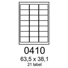 Etikety RAYFILM 63,5x38,1 vysokolesklé biele laser R01190410A R0119.0410A