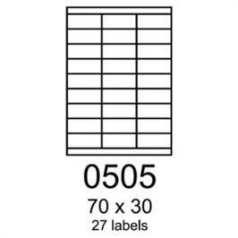 Etikety RAYFILM 70x30 vysokolesklé biele laser R01190505F R0119.0505F