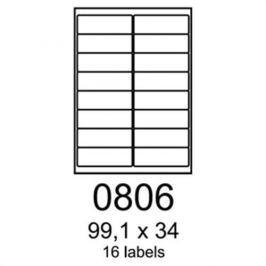 Etikety RAYFILM 99,1x34 vysokolesklé biele laser R01190806F R0119.0806F