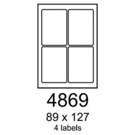 Etikety RAYFILM 89x127 vysokolesklé biele laser R01194869A R0119.4869A