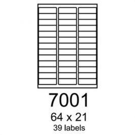 Etikety RAYFILM 64x21 vysokolesklé biele laser R01197001A R0119.7001A