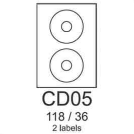 Etikety RAYFILM CD05 118/36 vysokolesklé biele laser R0119CD05F R0119.CD05F