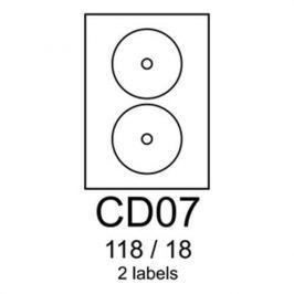 Etikety RAYFILM CD07 118/18 vysokolesklé biele laser R0119CD07F R0119.CD07F