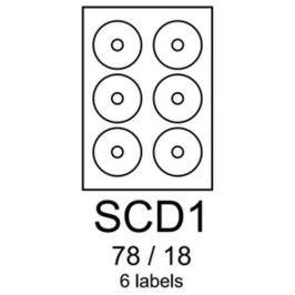 Etikety RAYFILM SCD1 78/18 vysokolesklé biele laser R0119SCD1A (100 list./A4) R0119.SCD1A