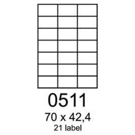 Etikety RAYFILM 70x42,4 univerzálne žlté R01210511A R0121.0511A