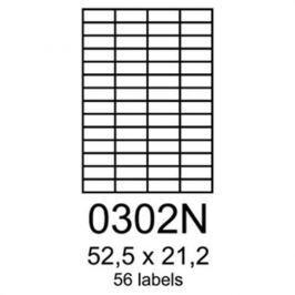 Etikety RAYFILM 52,5x21,2 univerzálne červené R01220302AN R0122.0302AN
