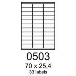 Etikety RAYFILM 70x25,4 univerzálne červené R01220503A (100 list./A4) R0122.0503A