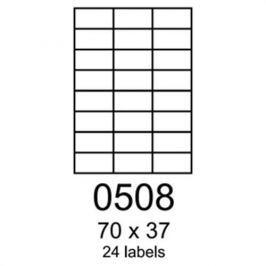 Etikety RAYFILM 70x37 univerzálne červené R01220508A R0122.0508A