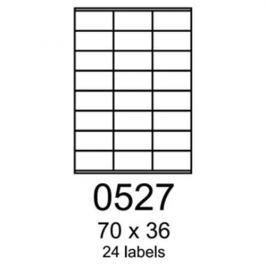 Etikety RAYFILM 70x36 univerzálne červené R01220527F R0122.0527F
