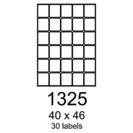 Etikety RAYFILM 40x46 univerzálne červené R01221325A R0122.1325A