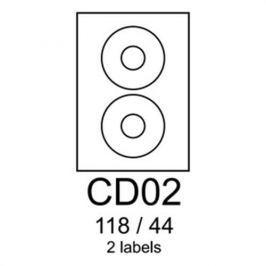Etikety RAYFILM CD02 118/44 univerzálne červené R0122CD02A R0122.CD02A
