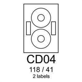 Etikety RAYFILM CD04 118/41 univerzálne červené R0122CD04A R0122.CD04A