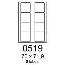 Etikety RAYFILM 70x71,9 univerzálne modré R01230519F R0123.0519F