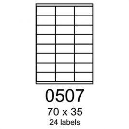 Etikety RAYFILM 70x35 zelené flourescentné laser R01300507A R0130.0507A