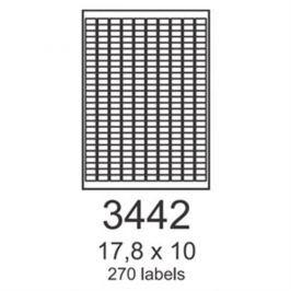 Etikety RAYFILM 17,8x10 zelené flourescentné laser R01303442A R0130.3442A