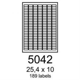 Etikety RAYFILM 25,4x10 zelené flourescentné laser R01305042A R0130.5042A