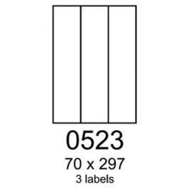 Etikety RAYFILM 70x297 žlté flourescentné laser R01310523A R0131.0523A