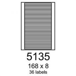 Etikety RAYFILM 168x8 žlté flourescentné laser R01315135F R0131.5135F