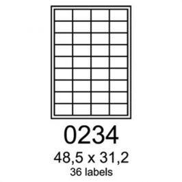 Etikety RAYFILM 48,5x31,2 červené flourescentné laser R01320234A R0132.0234A