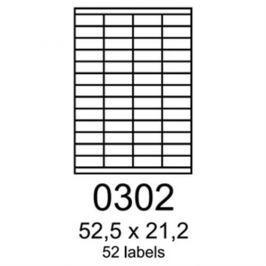 Etikety RAYFILM 52,5x21,2 čerevené flourescentné laser R01320302A R0132.0302A