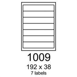 Etikety RAYFILM 192x38 červené flourescentné laser R01321009A R0132.1009A