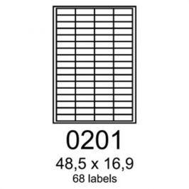 Etikety RAYFILM 48,5x16,9 oranžové flourescentné laser R01330201A R0133.0201A