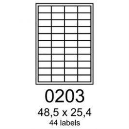 Etikety RAYFILM 48,5x25,4 oranžové flourescentné laser R01330203F R0133.0203F
