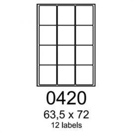 Etikety RAYFILM 63,5x72 oranžové flourescentné laser R01330420A R0133.0420A