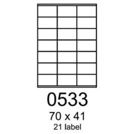 Etikety RAYFILM 70x41 oranžové flourescentné laser R01330533A R0133.0533A