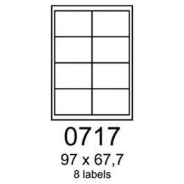 Etikety RAYFILM 97x67,7 oranžové flourescentné laser R01330717A R0133.0717A