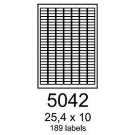 Etikety RAYFILM 25,4x10 oranžové flourescentné laser R01335042A R0133.5042A