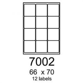 Etikety RAYFILM 66x70 matné biele polyesterové laser R05027002A R0502.7002A