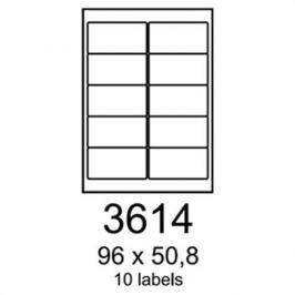 Etikety RAYFILM 96x50,8 matné biele polyetylenové R05033614A R0503.3614A