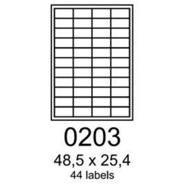 Etikety RAYFILM 48,5x25,4 polyesterové lesklé biele laser R05040203A R0504.0203A