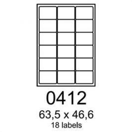 Etikety RAYFILM 63,5x46,6 matné strieborné R05550412A R0555.0412A