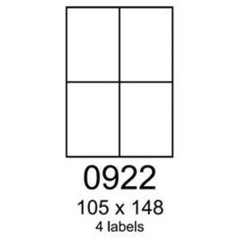 Etikety RAYFILM 105x148 univerzálne biele eco R0ECO0922A (100 list./A4) R0ECO.0922A
