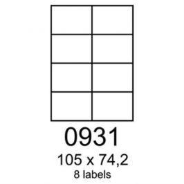 Etikety RAYFILM 105x74,2 univerzálne biele eco R0ECO0931F (1.000 list./A4) R0ECO.0931F