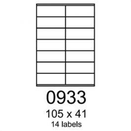 Etikety RAYFILM 105x41 univerzálne biele eco R0ECO0933F (1.000 list./A4) R0ECO.0933F