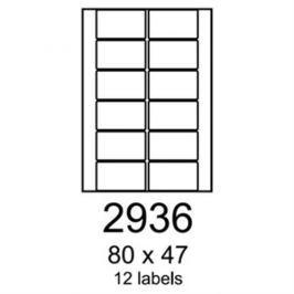 Etikety RAYFILM 80x47 univerzálne biele eco R0ECO2936F (1.000 list./A4) R0ECO.2936F