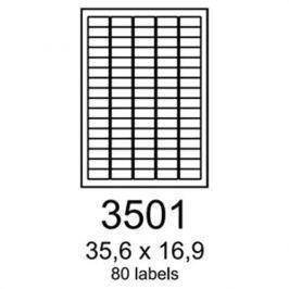 Etikety RAYFILM 35,6x16,9 univerzálne biele eco R0ECO3501F R0ECO.3501F