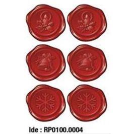 Etikety RAYFILM STICKERS - nálepky vianočná pečať 30ks/5 listov *RP01000004J RP0100.0004J