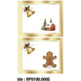 Etikety RAYFILM STICKERS - nálepky darčekové vianočné (motív A) 10ks/5 listov *RP01000005J RP0100.0005J