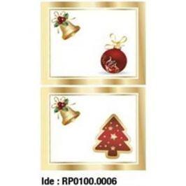 Etikety RAYFILM STICKERS - nálepky darčekové vianočné (motív B) 10ks/5 listov *RP01000006J RP0100.0006J