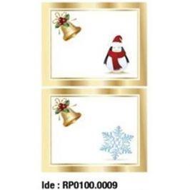 Etikety RAYFILM STICKERS - nálepky darčekové vianočné (motív E) 10ks/5 listov *RP01000009J RP0100.0009J