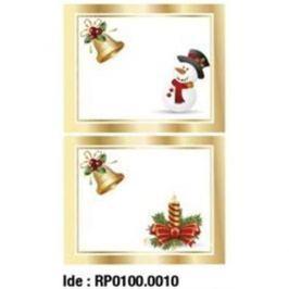 Etikety RAYFILM STICKERS - nálepky darčekové vianočné (motív F) 10ks/5 listov *RP01000010J RP0100.0010J