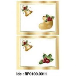 Etikety RAYFILM STICKERS - nálepky darčekové vianočné (motív G) 10ks/5 listov *RP01000011J RP0100.0011J
