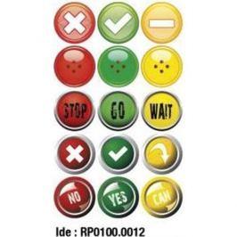 Etikety RAYFILM STICKERS - nálepky semafor 75ks/5 listov *RP01000012J RP0100.0012J